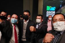 Osni, vice-governador Rodrigo Garcia, Edinho e Guilherme